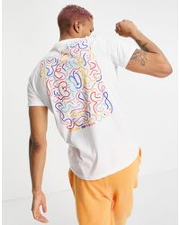 Friend or Faux squiggle Printed T-shirt - White