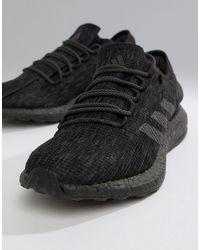 adidas Черные Кроссовки Running Pureboost - Черный