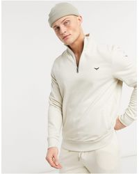 Threadbare - 1/4 Zip Mix And Match Sweatshirt - Lyst
