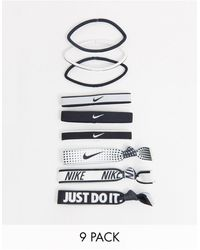 Nike 9 Pack Mixed Hairbands - Multicolour