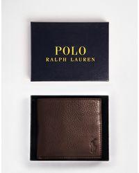 Polo Ralph Lauren Коричневый Кожаный Бумажник -коричневый Цвет
