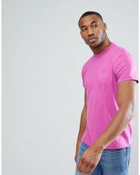 Psycho Bunny - Crew Neck T-shirt Regular Fit In Purple - Lyst