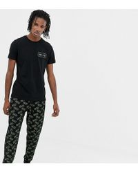 ASOS Pajama Set With Bedtime Print - Black