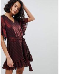 AllSaints - Stripe Smock Dress - Lyst