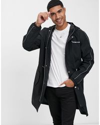 The Couture Club Piped Lightweight Mac Logo Jacket - Zwart