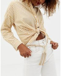 ASOS - Twisted Chain And Tassel Belt - Lyst