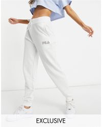Fila Small Logo Oversized joggers - White