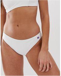 Champion Logo Bikini Bottom - White