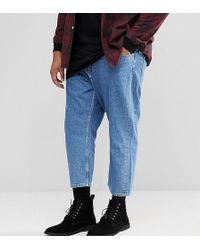 Only & Sons | Plus Cropped Balloon Fit Jeans | Lyst