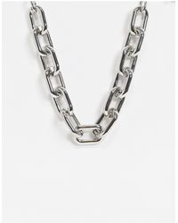 Pieces Chunky Chain Necklace - Metallic