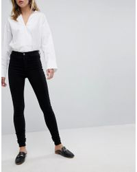 Pieces - High Waisted Jeggings - Lyst