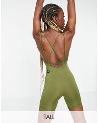 ASOS 4505 Mono corto ajustado para yoga - Verde