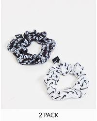 Nike Set Van 2 Haarelastiekjes - Zwart