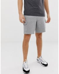 ASOS - Jersey Shorts With Cargo Pockets In Grey Marl - Lyst