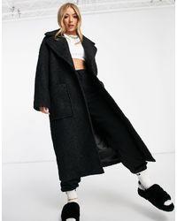 UGG Черное Длинное Пальто В Стиле Oversized Hattie-черный