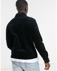Weekday Ahmed Cord Overshirt - Black