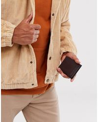 French Connection Premium Leather Folded Cardholder - Brown