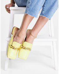TOPSHOP Lamara Chain Loafer Mule - Yellow