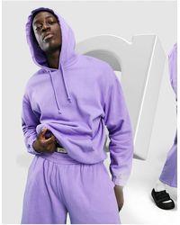 ASOS Sudadera extragrande violeta con capucha - Morado