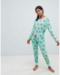 Chelsea Peers Pinata Long Pyjama Set - Green