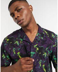 Pull&Bear Фиолетовая Рубашка С Принтом -фиолетовый - Пурпурный