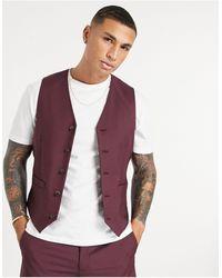 ASOS Slim Suit Waistcoat - Gray