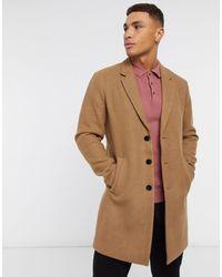 Jack & Jones Бежевое Пальто Premium-коричневый
