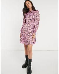 Vero Moda Розовое Платье-рубашка Мини С Абстрактным Принтом -розовый Цвет
