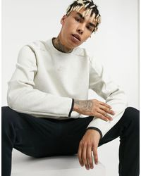 Nike Revival Tech Fleece Crew Neck Sweat - White