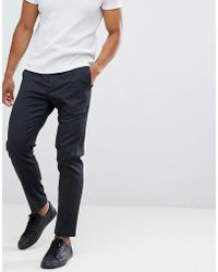 SELECTED - Trouser With Elasticated Waistband In Tapered Fit - Lyst