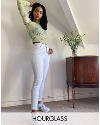 ASOS Hourglass - 'liftende En Vormgevende' Skinny Jeans - Wit