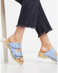Calvin Klein Vancy Chunky Cleated Clogs - Blue