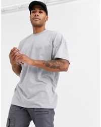 ASOS Oversized Longline T-shirt With Crew Neck - Grey