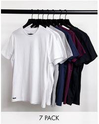Threadbare - Confezione da 7 T-shirt basic multicolore - Lyst