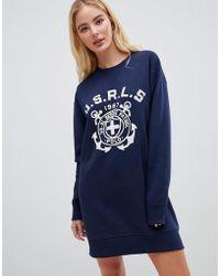 Polo Ralph Lauren - Logo Jumper Dress - Lyst