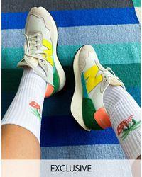 New Balance Кроссовки Кремового И Желтого Цветов 237 – Эксклюзивно Для Asos-белый