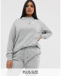 Nike Худи Серого Цвета Plus Essentials-серый