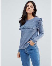 Vila - Ruffle Sweater - Lyst