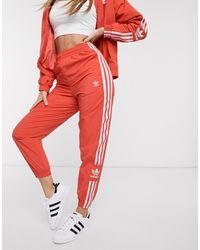 adidas Originals Adicolor Locked Up Logo Track Trousers - Red