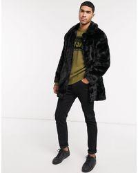 Urbancode Faux Fur Coat - Black