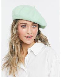 Monki Шерстяной Берет Зеленого Цвета Brooklyn-зеленый Цвет