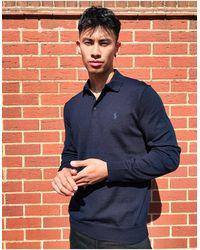 Polo Ralph Lauren - Темно-синее Поло Из Мериносовой Шерсти С Логотипом -темно-синий - Lyst