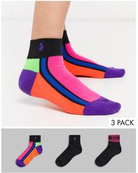 Polo Ralph Lauren Набор Из 3 Пар Носков (разноцветные/др.) -черный