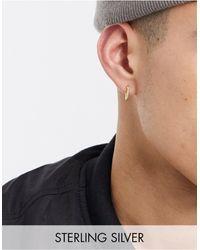 Serge Denimes Sterling Silver Gold Plated Hoop Earring With Twist Engraving - Metallic