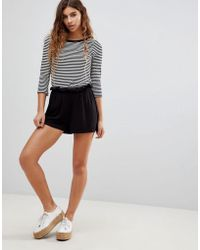 ASOS - Design Culotte Shorts With Paperbag Waist - Lyst