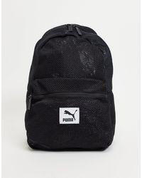 PUMA Черный Сетчатый Рюкзак -черный Цвет