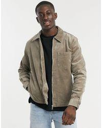 Weekday - Коричневая Вельветовая Рубашка Навыпуск Ahmed-коричневый Цвет - Lyst