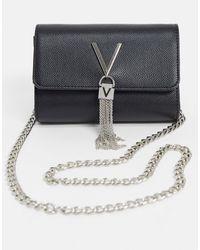 Valentino Garavani Divina Metallic Crossbody Bag - Noir