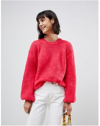 B.Young Balloon Sleeve Jumper - Red