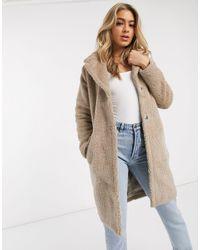 AX Paris Плюшевое Пальто -серый
